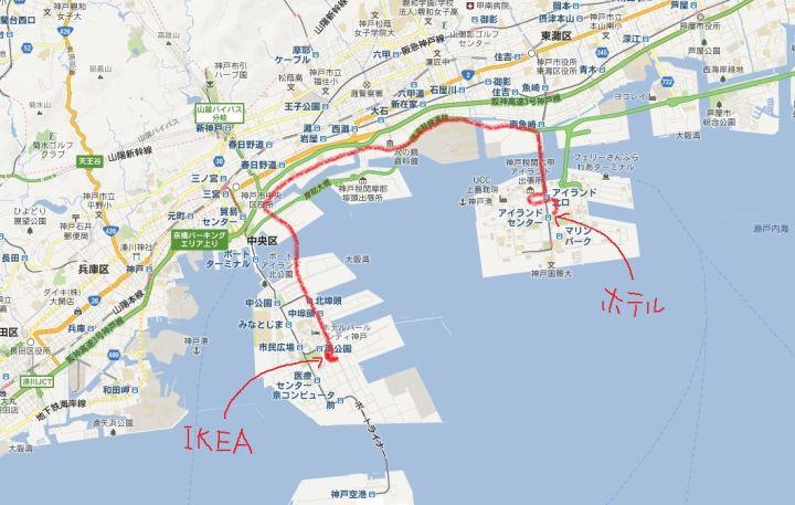 ホテルからIKEAまでの道.jpg